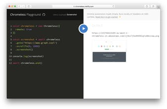 Chromeless - Headless Chrome automation on AWS Lambda