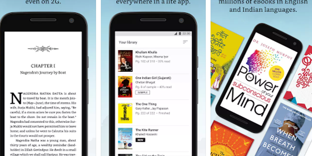 Amazon Kindle Lite - 2MB app from Amazon to read millions of eBooks