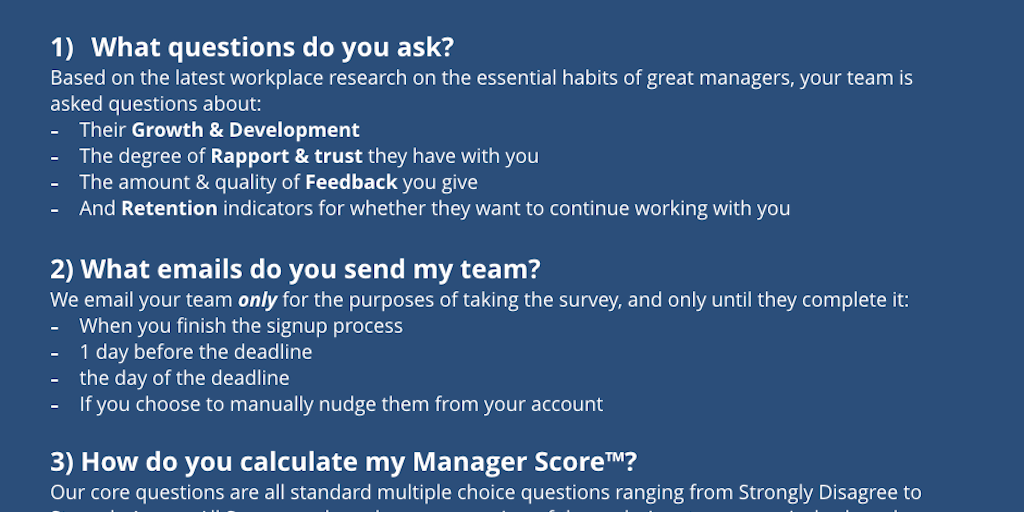 Manager Score - Benchmark your manager skills & get advice to
