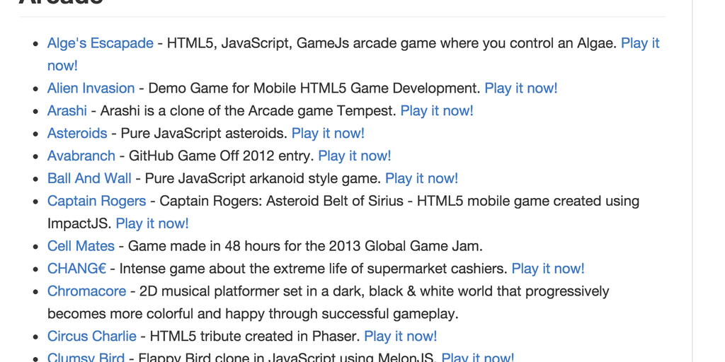 Games on GitHub - A list of popular/awesome videos games