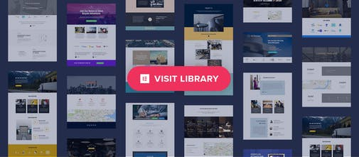 Elementor Library - The first free template library for a
