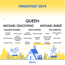Festify - A visual lineup of your most listened to Spotify artists