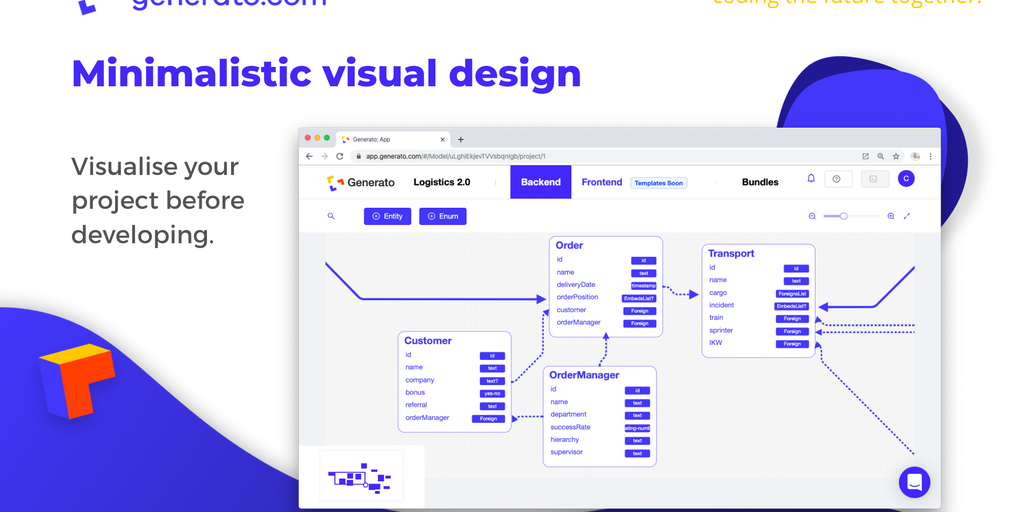 Generato - Design applications visually - generate code in seconds 🚀 | Product Hunt