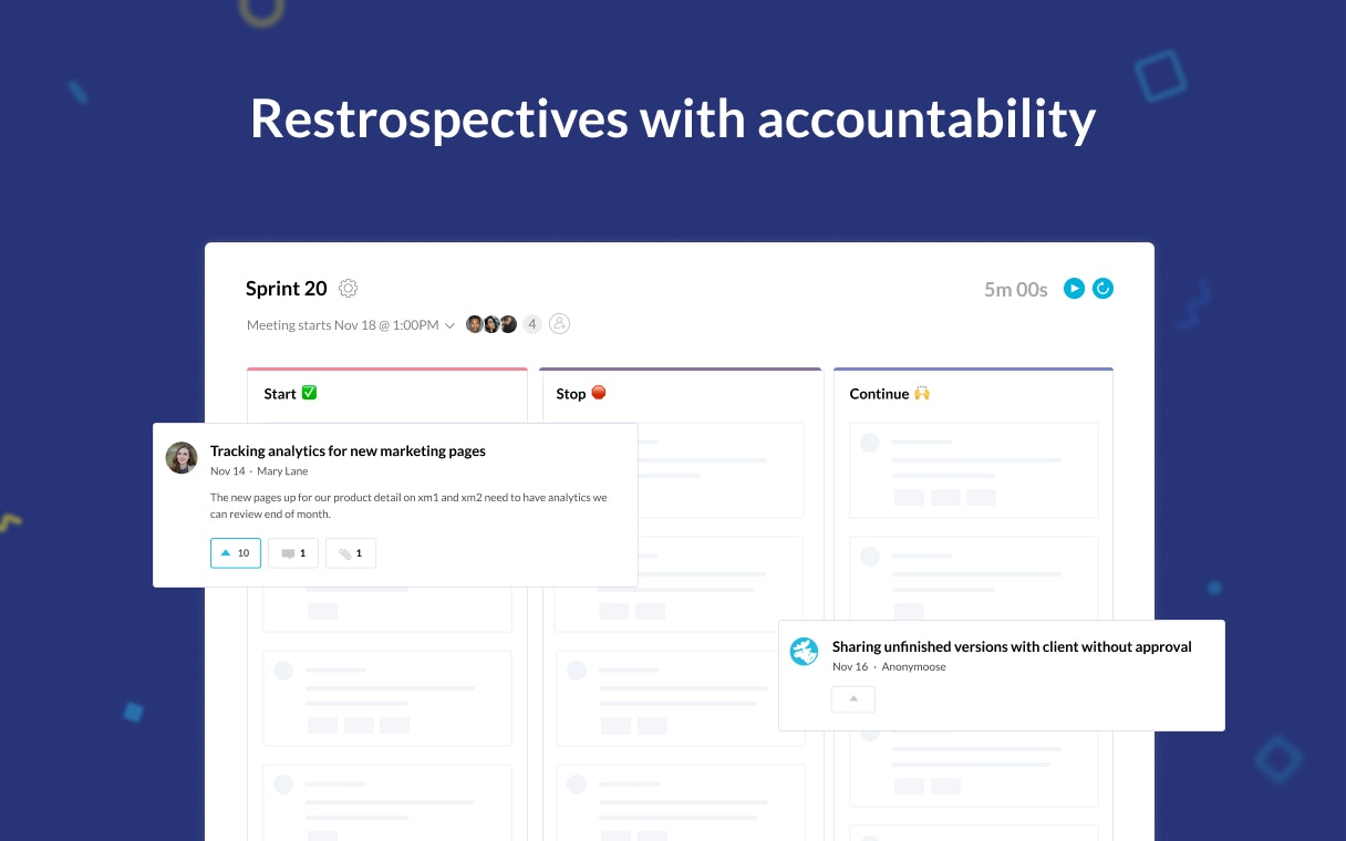 Sprintlio - Retrospectives with accountability ✅