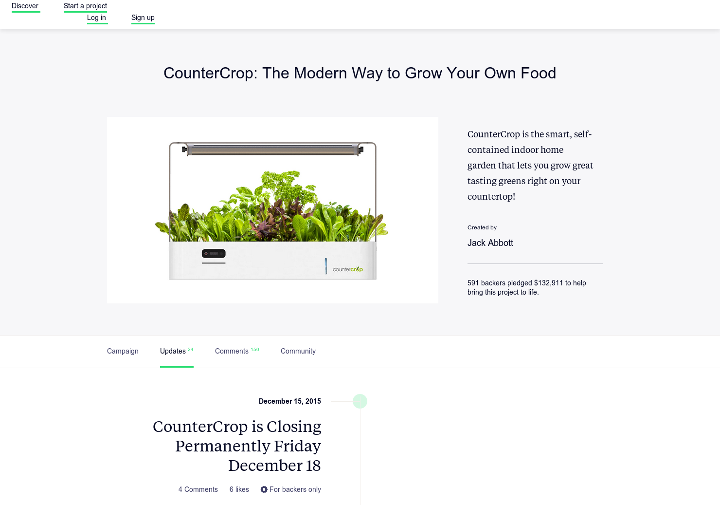 CounterCrop - The Modern Way to Grow Your Own Food