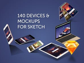Angle - 200+ Android & iOS vector device mockups for Sketch