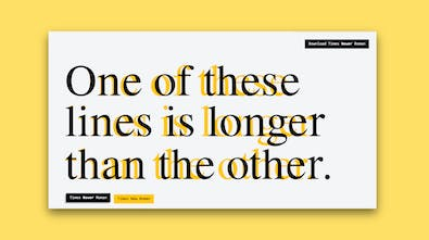 Times Newer Roman A Font Like Times New Roman But Each Letter Is 5 10 Wider Product Hunt