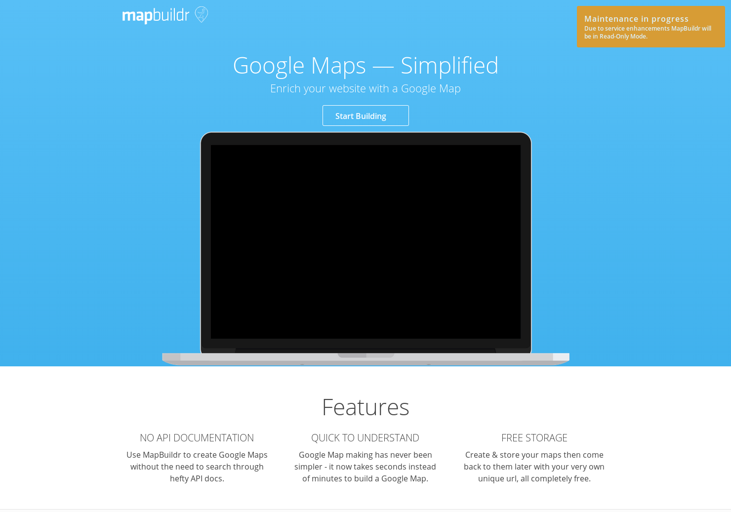 Mapbuildr - Create Google Maps without the need to search