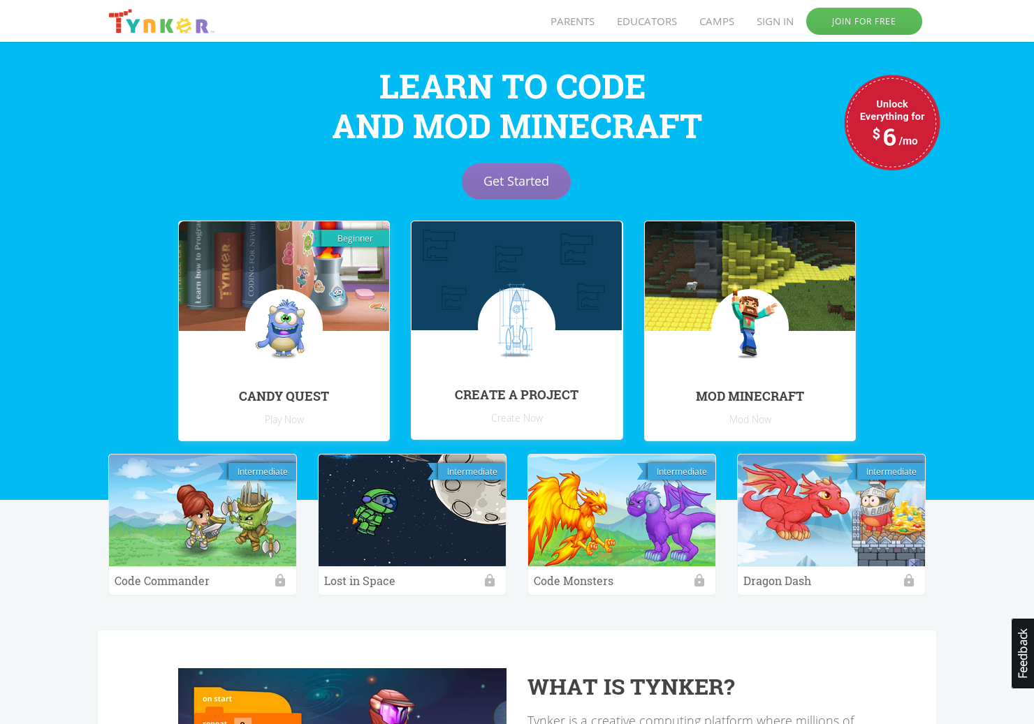 Tynker - Game Worlds for Kids to Learn Programming