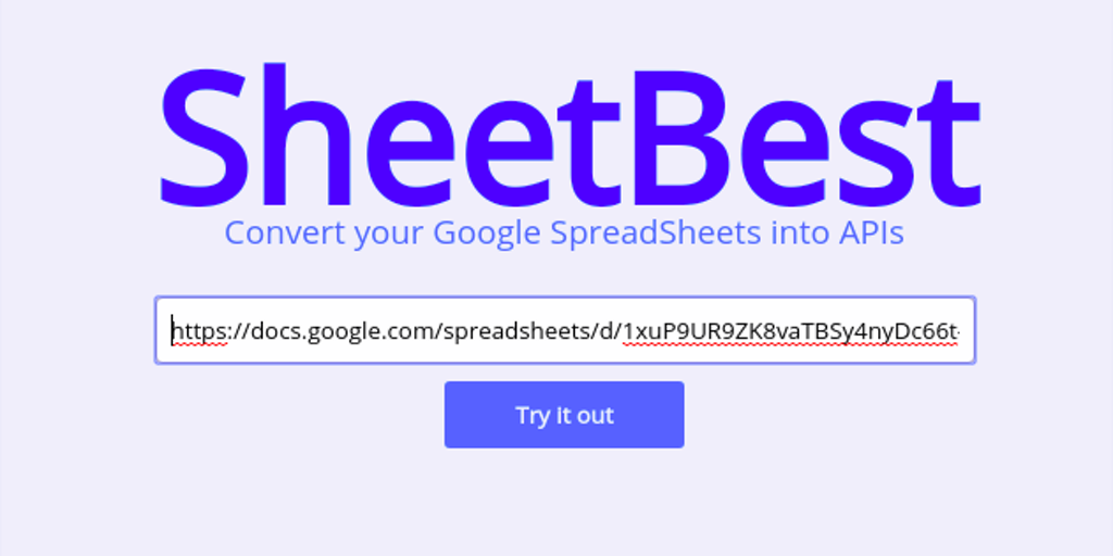 SheetBest - Turn a Google SpreadSheet into a JSON Database API | Product Hunt