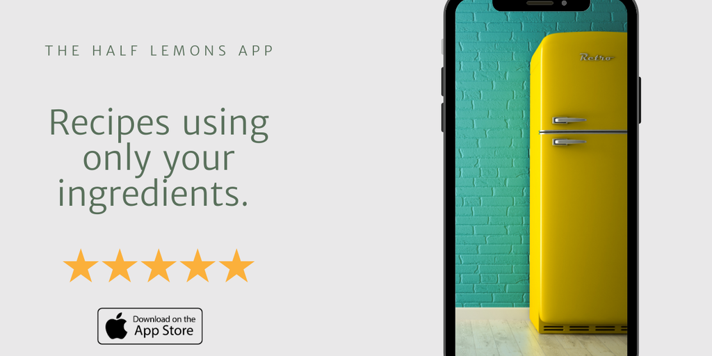 Half Lemons - Get recipes using only the ingredients you have at home | Product Hunt