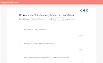 Popular & Effective Interview Questions - Directory of 300+