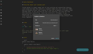 Markdium - Write Medium post in Markdown without pain