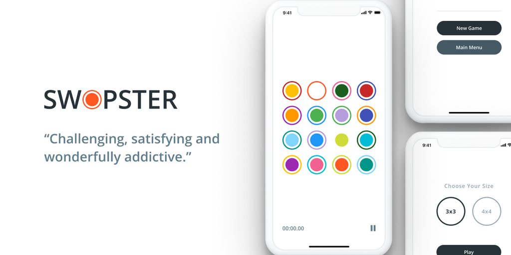 Swopster - Tap or swipe the circles until all the colors match | Product Hunt