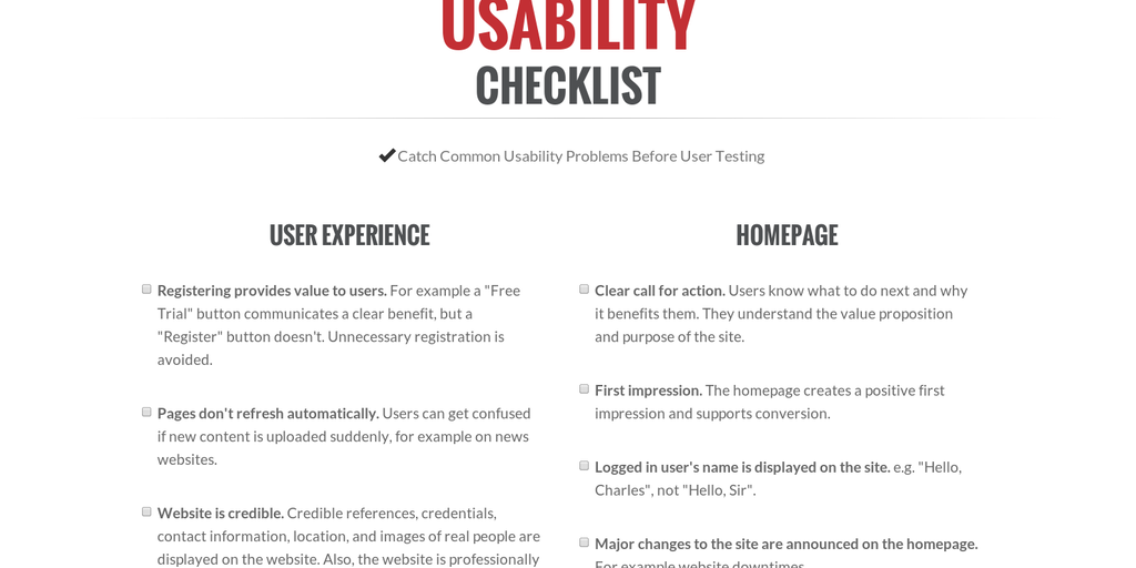 Userium - Catch common usability problems before user