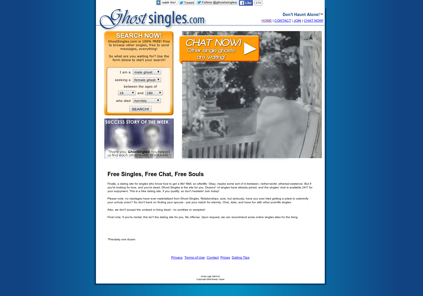 Online dating for ghosts