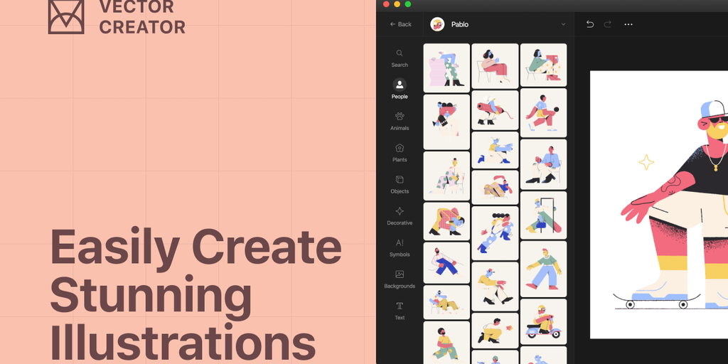 Vector Illustration Creator - Create free personalized illustrations from 3000+ elements | Product Hunt