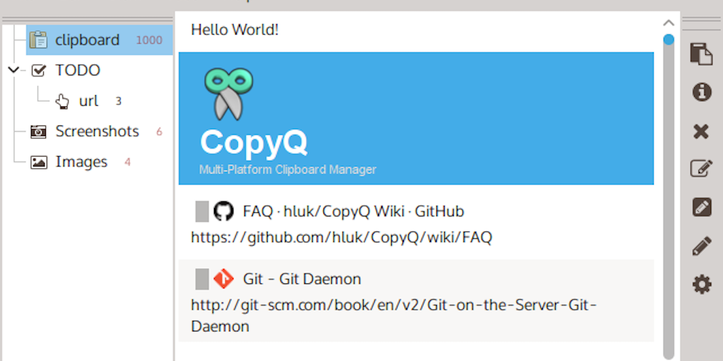 CopyQ - Powerful open source clipboard manager with superb