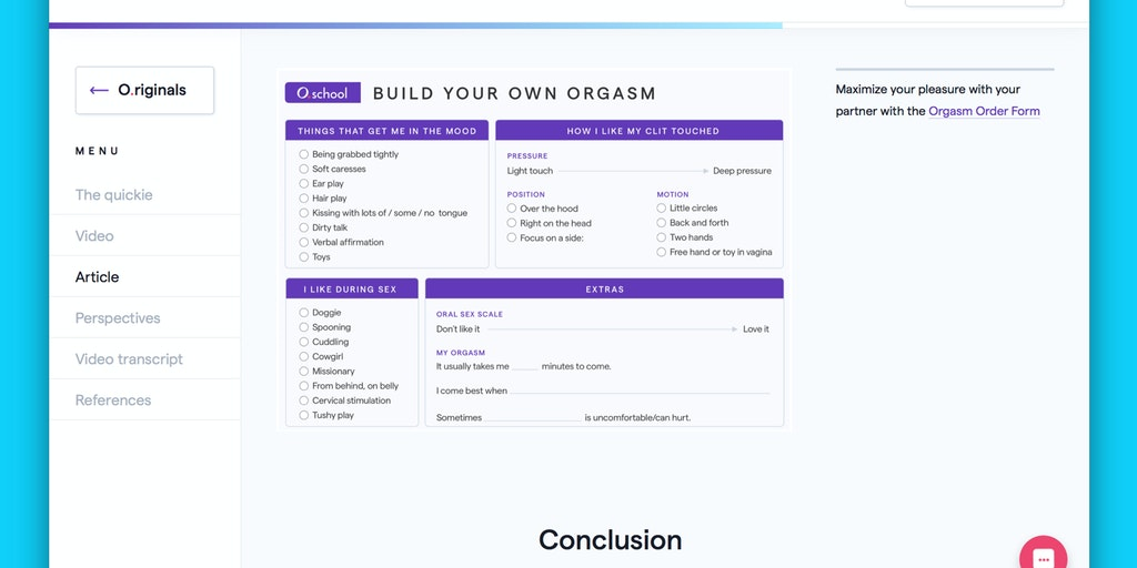 O.school O.riginals - Original videos & GIFs to learn sex, pleasure, & dating | Product Hunt