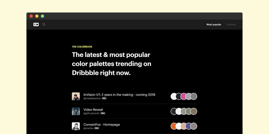 The Colorbook - Product Hunt