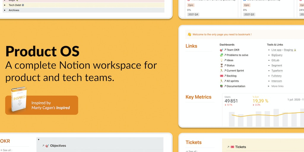 Product OS - Notion workspace for product and tech teams   Product Hunt