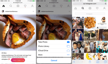 Instagram Mobile Site - Use core features of Instagram on