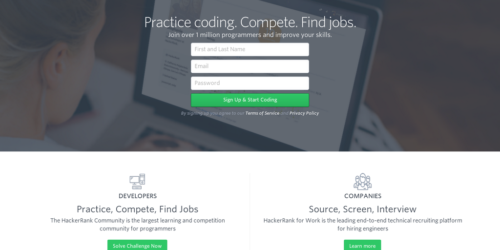 HackerRank - Coding challenges Community Awesome jobs