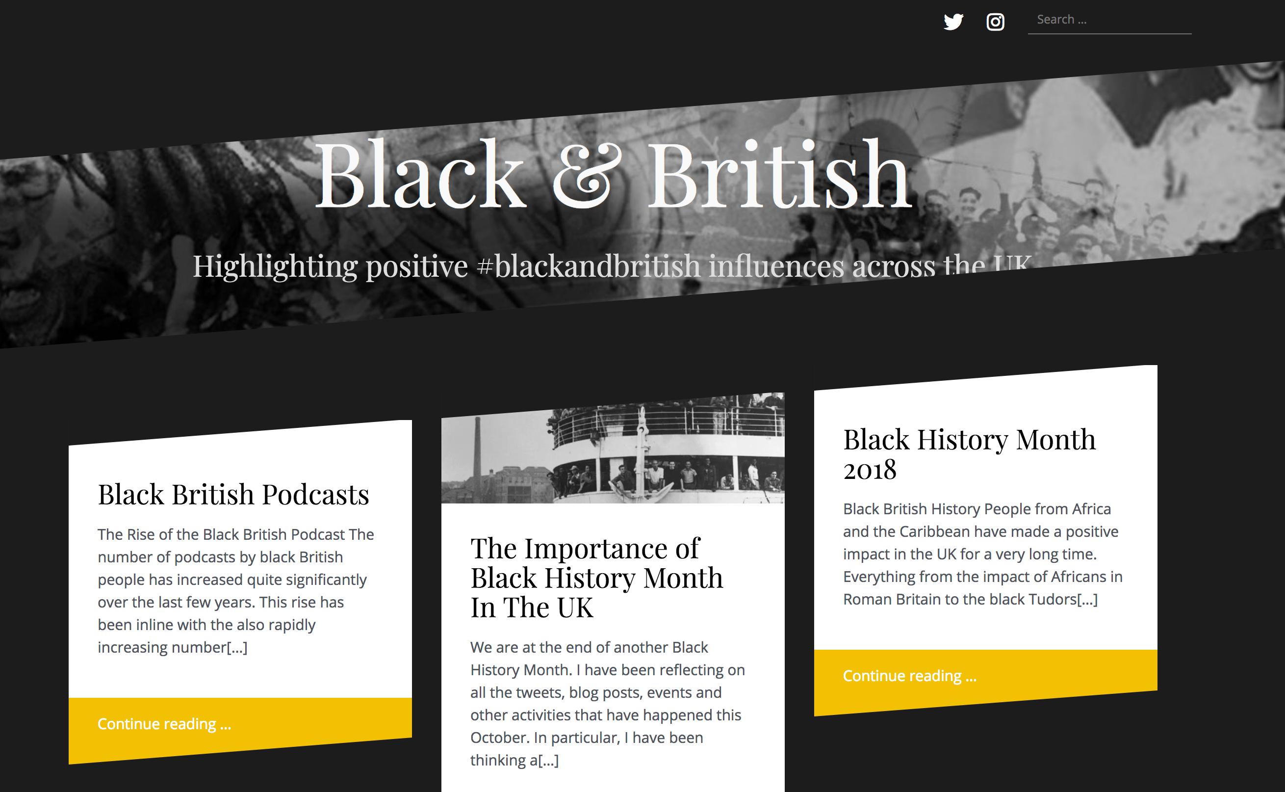 Black & British - Content platform to empower the Black British community