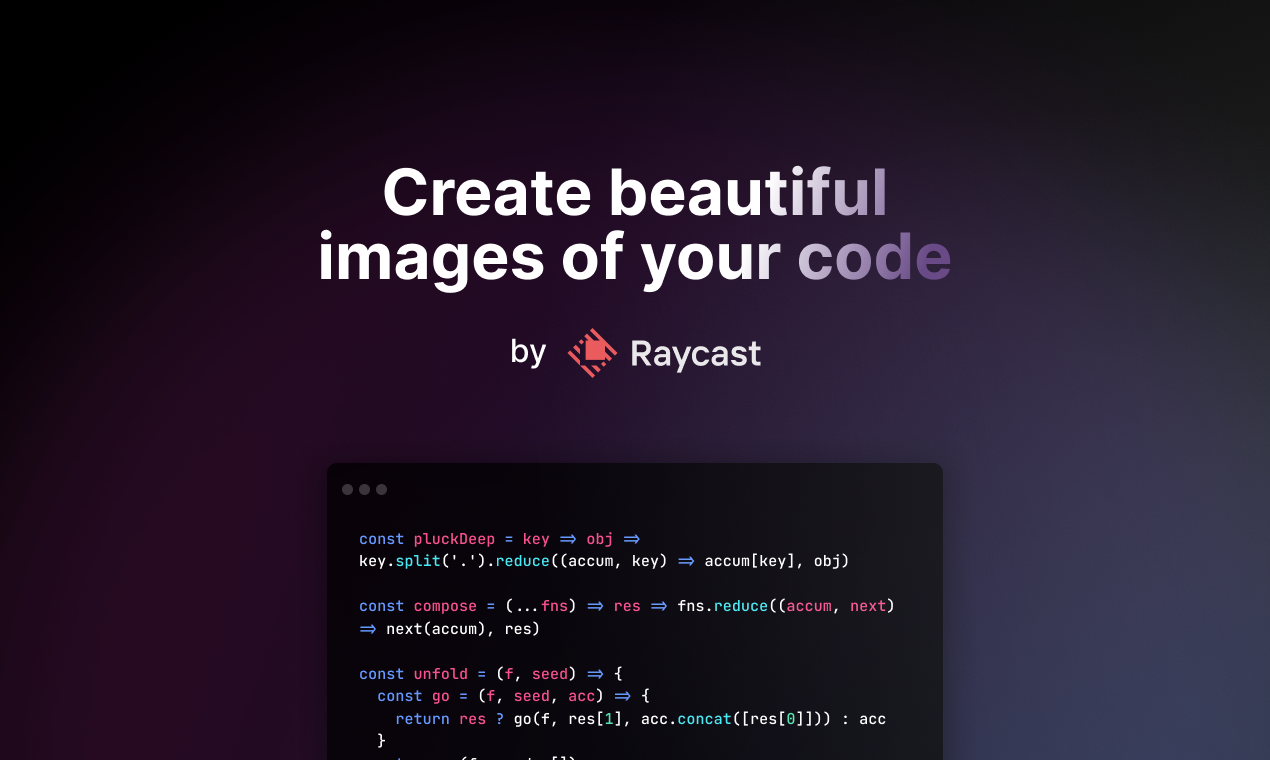 Ray.so Product Hunt Image