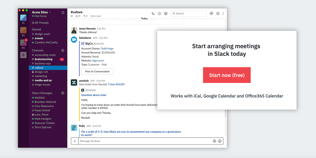 Arrangr for Slack - Set up meetings within Slack - quick and easy | Product Hunt