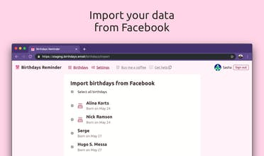 Birthdays Reminder - So now you can finally delete your