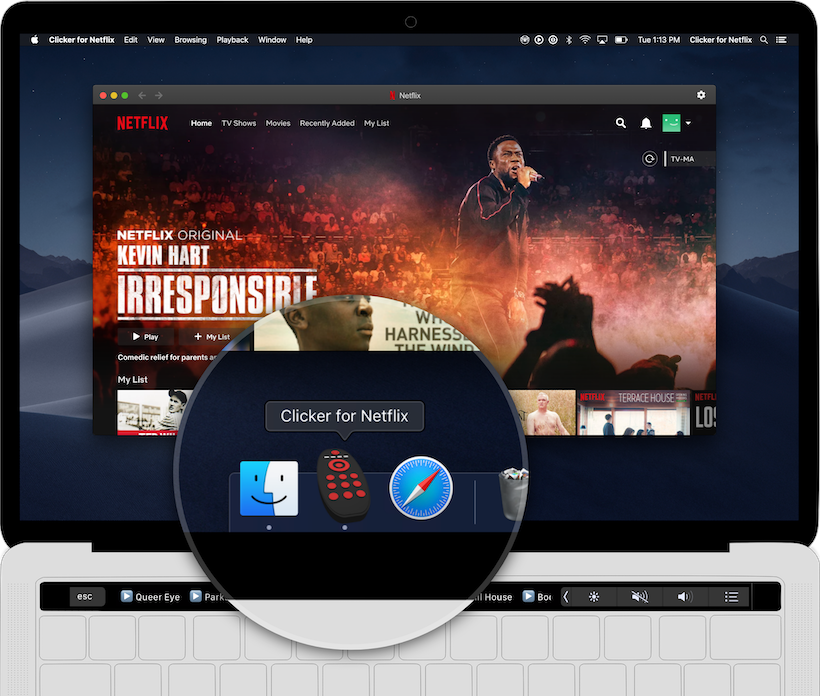 Clicker for Netflix - A native Netflix player for macOS with touch bar support