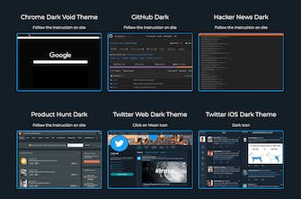 Dark Mode List - A list of apps that support 🌃 dark mode | Product Hunt