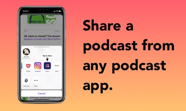 Bullet - Share captioned video snippets of podcasts from any app