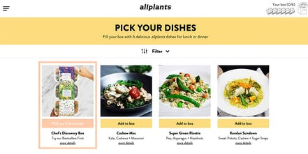 allplants - Chef prepared, plant powered meals delivered to