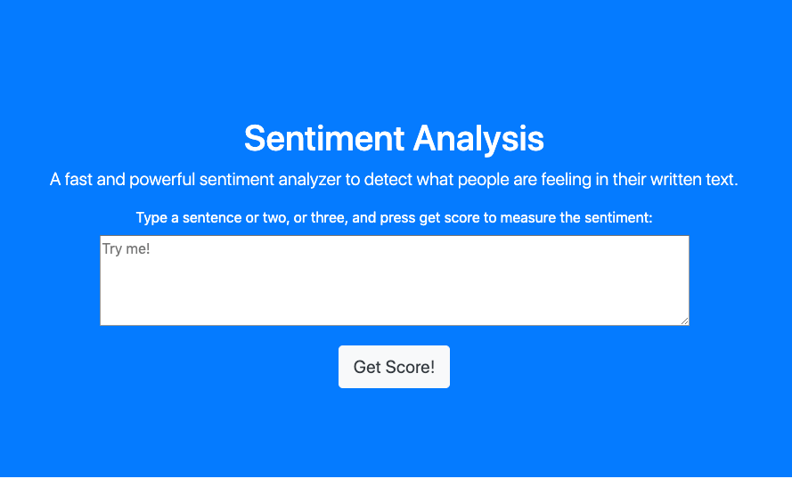 Sentigrade - Sentiment Analysis API for Customer Survey Text