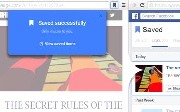 Save to Facebook - Add any page to your Facebook Saved list