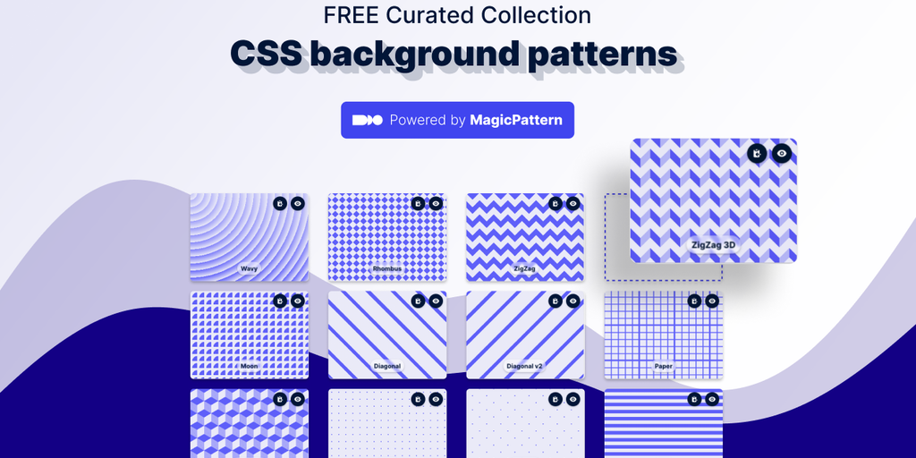 CSS Background Patterns - Free editable patterns that actually look cool 😎 | Product Hunt