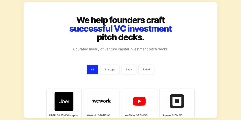 Get Startup Funding 🚀(All Pitch Decks) - +$50B VC pitches