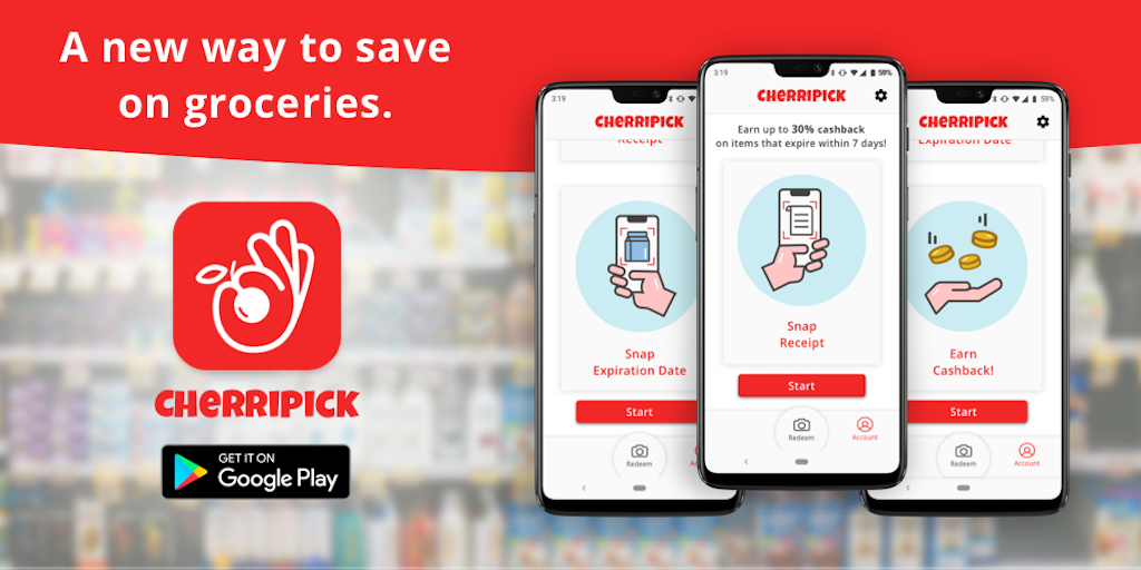 Cherripick | app that reduces food waste - Earn cashback for buying food nearing expiration | Product Hunt