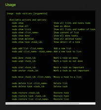 nodo - Manage your daily tasks in the command line | Product