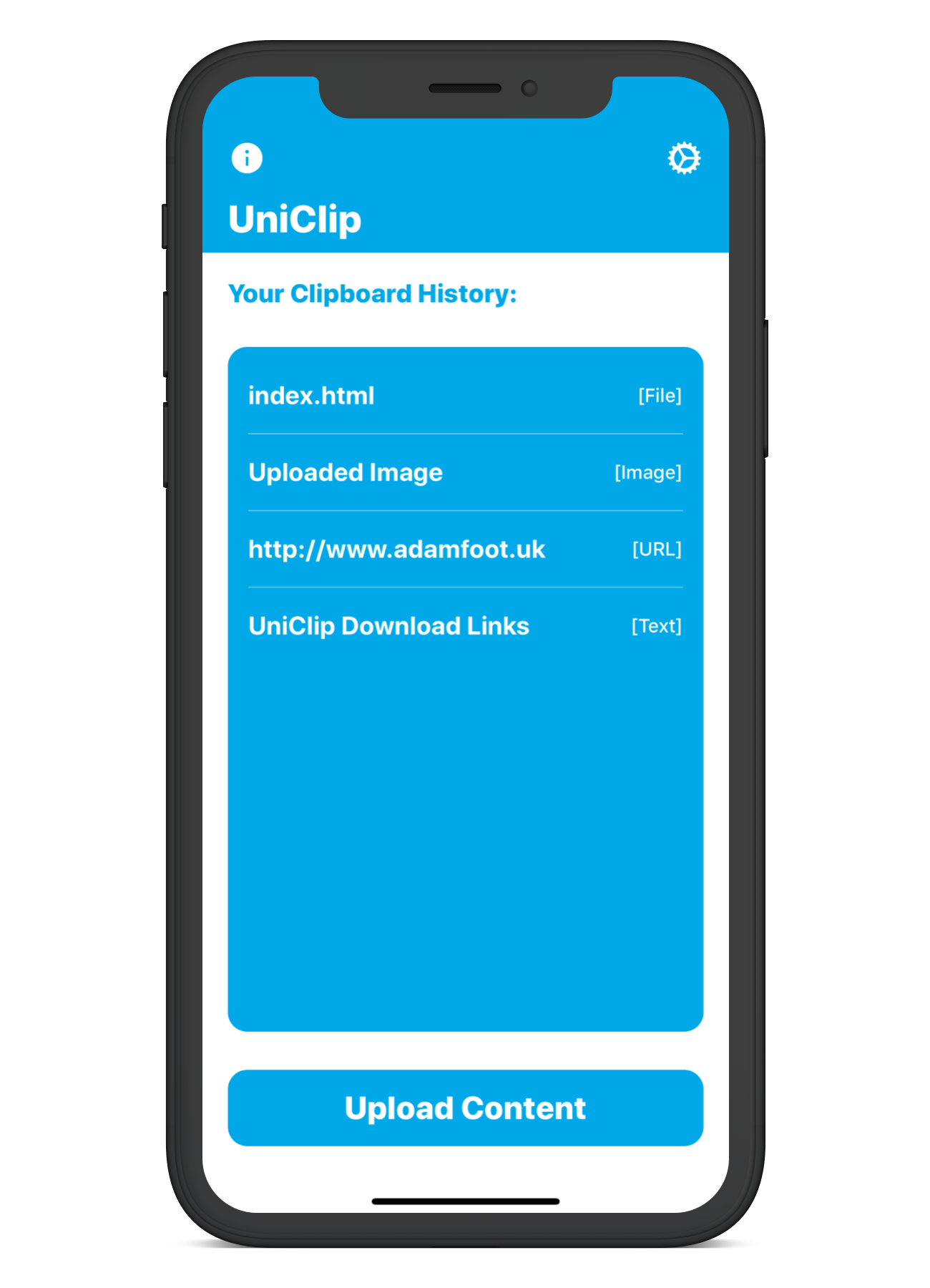 UniClip - A universal clipboard for iOS, macOS & tvOS using iCloud 📝