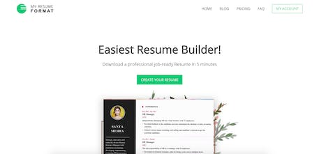 My Resume Format - Make a professional resume in five ...