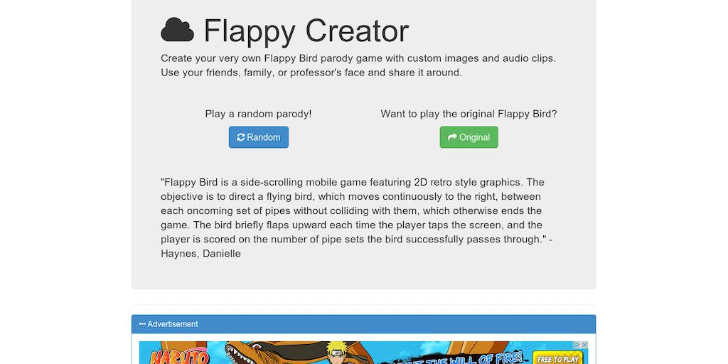 Flappy Creator - Create your very own Flappy Bird parody