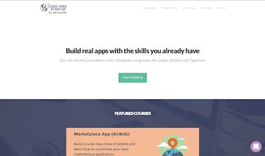 CodeFree Startup 2 0 - Learn how to build real apps without
