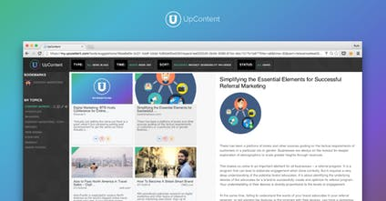 UpContent - Find relevant content to spark meaningful