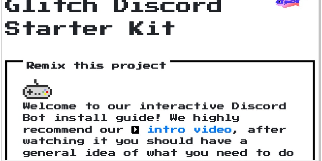 Glitch Discord Starter Kit - An easy way to get a discord bot up and running | Product Hunt