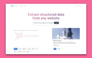 Microlink 2 0 - Extract structured data from any website | Product Hunt