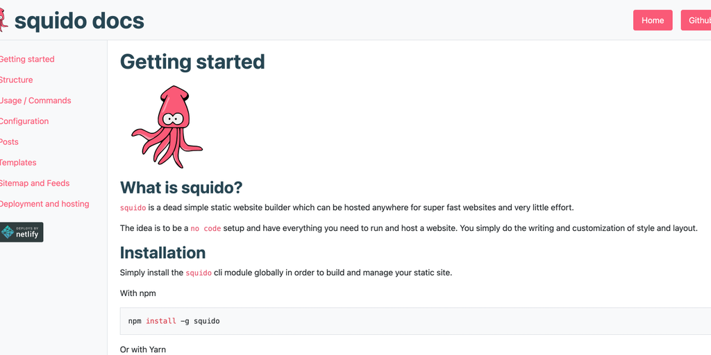 squido - A dead simple static HTML website builder | Product Hunt
