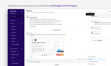 Ant Design System for Figma - A large library of 2100+